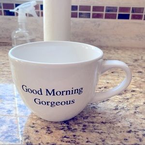 """Extra Large """"Good morning Gorgeous"""" Coffee mug"""